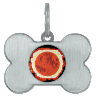 Blood Moon Eclipse Pet Tag