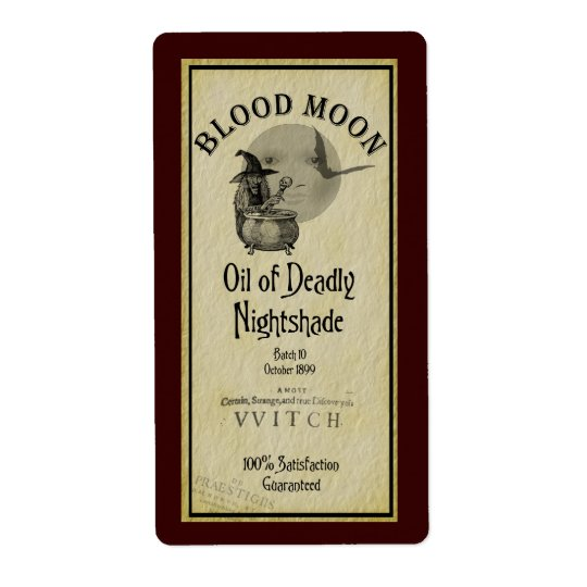 Blood Moon Halloween Avery Label Shipping Label