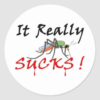 Blood Mosquito Full Round Sticker