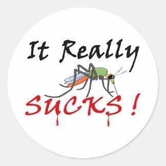 Blood Mosquito Full Round Sticker