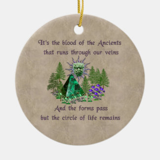Blood Of The Ancients Double-Sided Ceramic Round Christmas Ornament