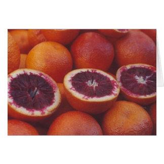 Blood oranges greeting card