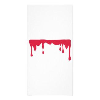 Blood Photo Greeting Card