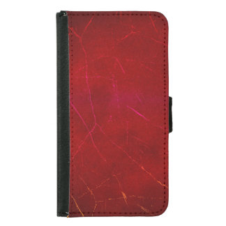 Blood Red Abstract Texture with Scratches Samsung Galaxy S5 Wallet Case