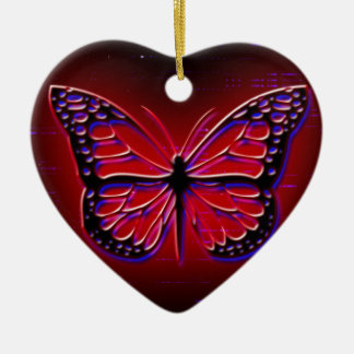Blood Red Butterfly Christmas Ornament