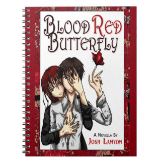 Blood Red Butterfly notebook