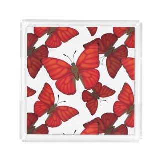 Blood Red Glider Butterfly Acrylic Tray