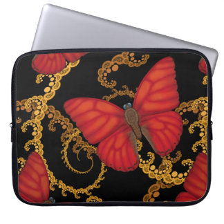 Blood Red Glider Butterfly Computer Sleeve