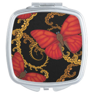 Blood Red Glider Butterfly Makeup Mirrors
