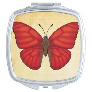 Blood Red Glider Butterfly Travel Mirror