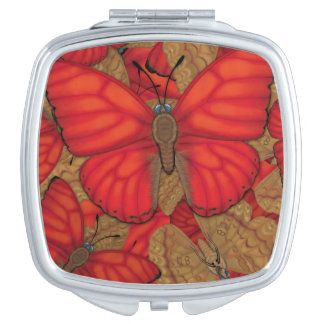 Blood Red Glider Butterfly Vanity Mirror