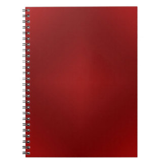 Blood Red Gradient - Customized Dark Red Template Spiral Notebook