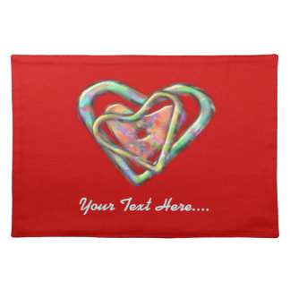 Blood Red Love Heart with Triple Heart Placemat