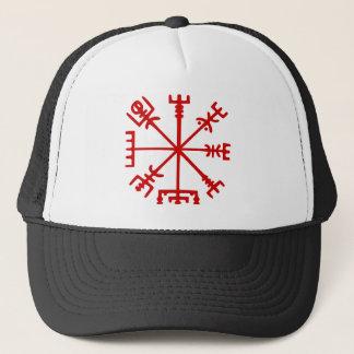 Blood Red Vegvísir (Viking Compass) Trucker Hat