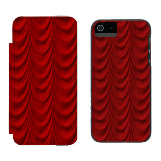 Blood Red Velvet and Black Lace Plush Fabric Incipio Watson™ iPhone 5 Wallet Case