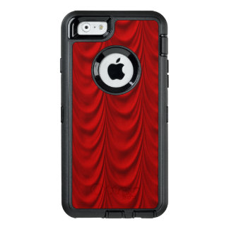 Blood Red Velvet and Black Lace Plush Fabric OtterBox iPhone 6/6s Case