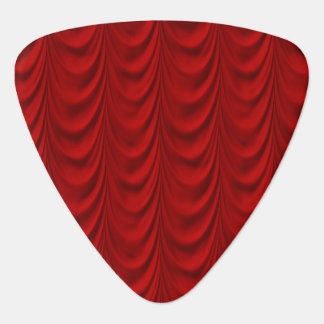 Blood Red Velvet and Black Lace Plush Fabric Plectrum