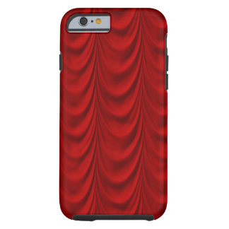 Blood Red Velvet and Black Lace Plush Fabric Tough iPhone 6 Case