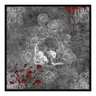 Blood Skull and Roses Horror Goth Wedding Invitation