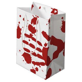 Blood Soaked Hand Print Halloween Trick Or Treat Medium Gift Bag
