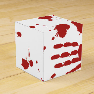 Blood Spatter Bloody Hand Print Gross Halloween Favour Box