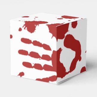 Blood Spatter Bloody Hand Print Gross Halloween Favour Box