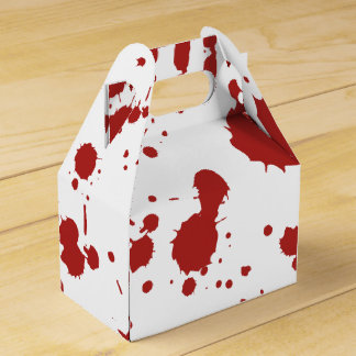 Blood Spatter Bloody Hand Print Gross Halloween Favour Boxes