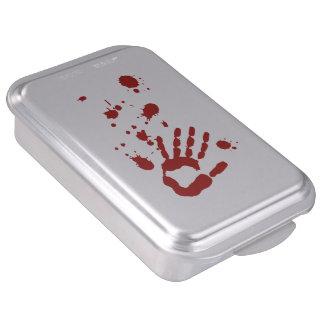 Blood Spatter Bloody Hand Print Halloween Props Cake Pan