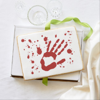 Blood Spatter Bloody Hand Print Halloween Props