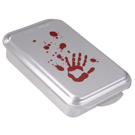 Blood Spatter Bloody Hand Print Halloween Props Cake Pan