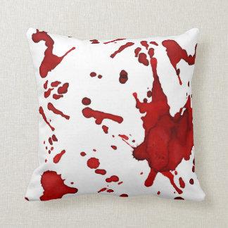 blood spatter pillow