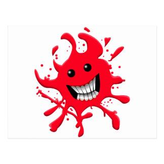Blood Splat Postcard