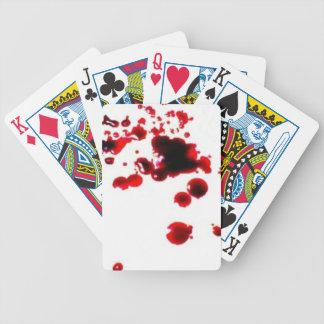 Blood splatter 2 creepy Halloween playing cards