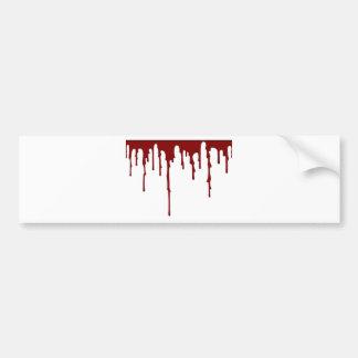 blood splatter 5 bumper sticker