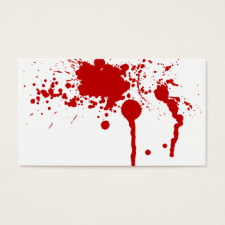 Blood Splatter Bloody Wound Bleeding Halloween Business Card