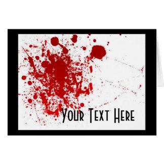 Blood Splatter Card