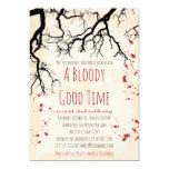 Blood Splatter Creepy Halloween Invitation