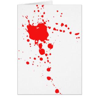 Blood Splatter Greeting Card