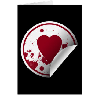 Blood Splatter Heart Card