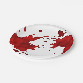 Blood Splatter Paper Plate