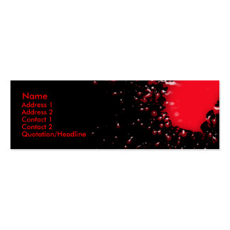 Blood Splatter Profile Card Business Card