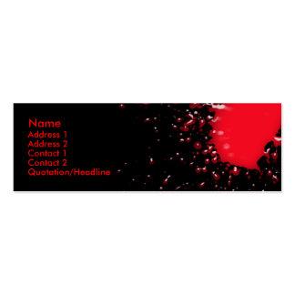 Blood Splatter Profile Card Pack Of Skinny Business Cards