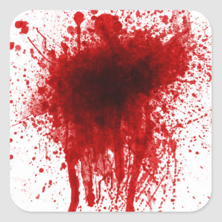 Blood Splatter Realistic Square Sticker