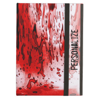 Blood Splatter with Personalize Name iPad Air Cover