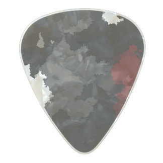Blood Stained Sky Pearl Celluloid Guitar Pick