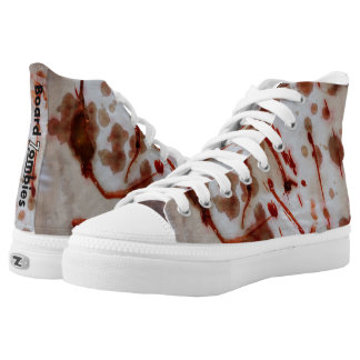 Blood Stained Zombie High Tops By BoardZombies Printed Shoes