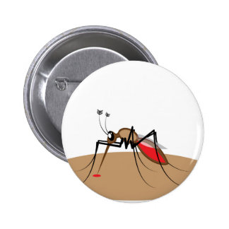 Blood sucking Insect 6 Cm Round Badge