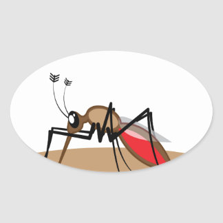 Blood sucking Insect Oval Sticker