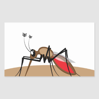 Blood sucking Insect Rectangular Sticker