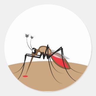 Blood sucking Insect Round Sticker